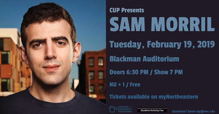 Northeastern CUP presents Sam Morrill