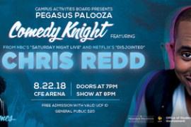 Chris Redd & Janelle James to host Pegasus Palooza Comedy Knight 2018